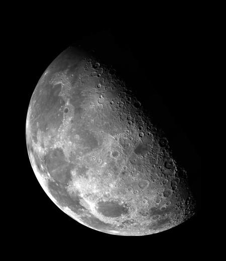 The moon very close