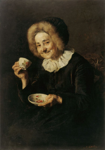 Woman Drinking Coffee, 1888, oil, canvas, 100 x 70 cm by: Ivana Kobilca.