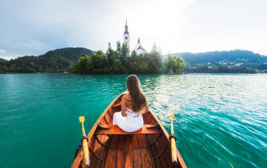 VELIKA F010410 lake bled in slovenia boat ride with andrea by michael matti 2 photo l