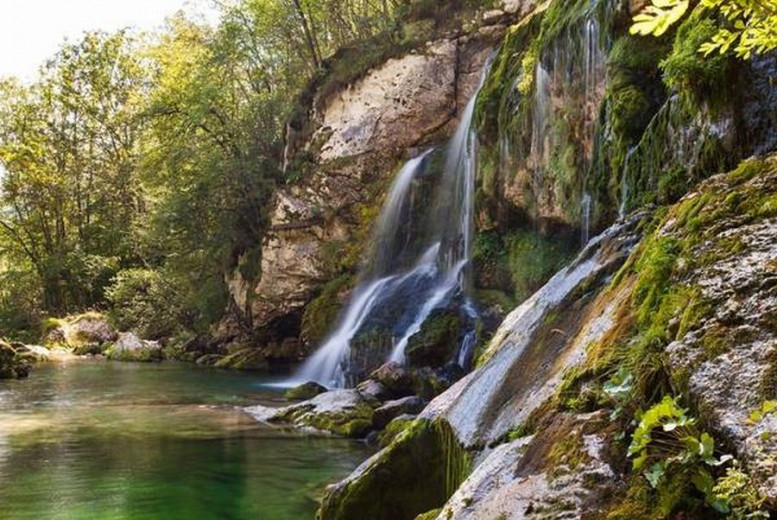 The Virje waterfall near Bovec